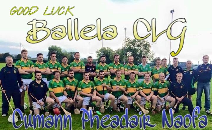 Good luck to Ballela in Ulster Final