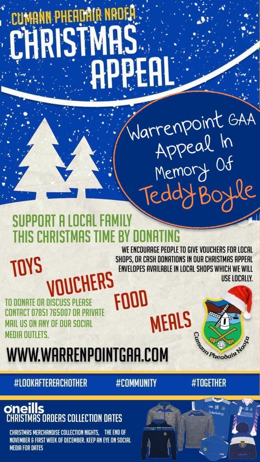 Warrenpoint GAA Christmas Appeal